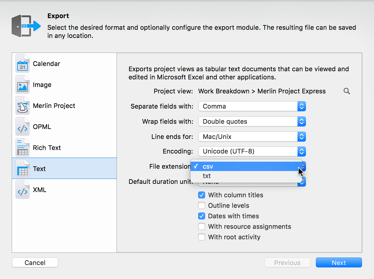 User reference handbook for merlin project express exportcsv file extension baditri Choice Image
