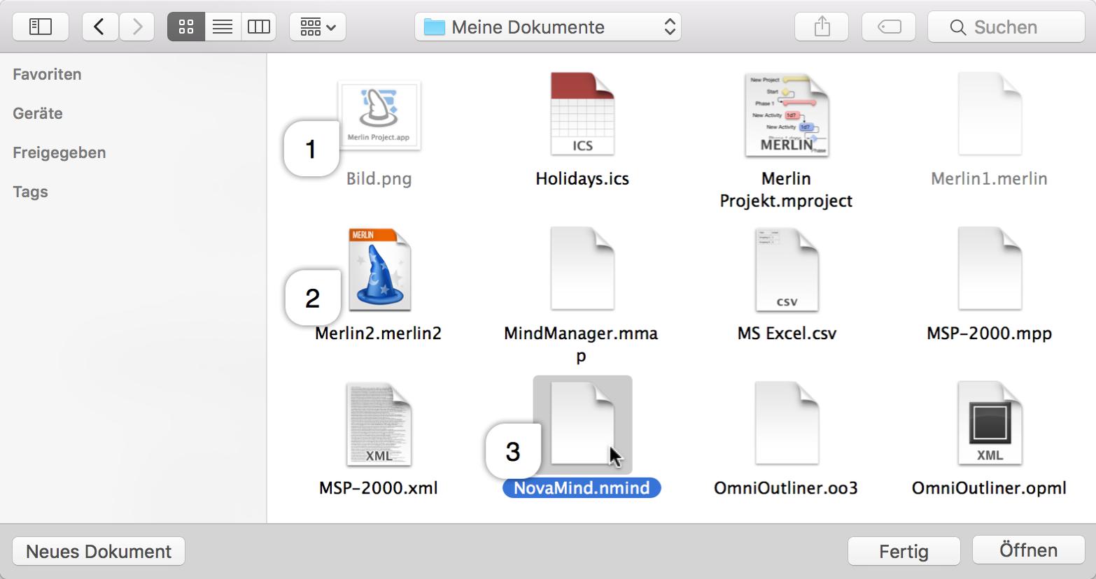 Handbuch: Hilfedokument für Merlin Project