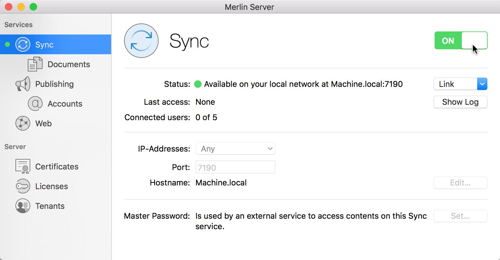 Merlin Server: Guide